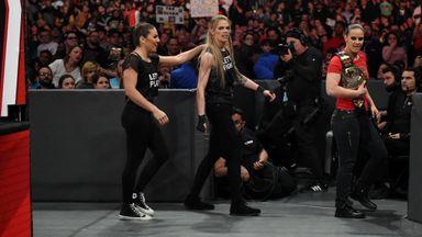 Baszler, Shafir and Duke storm ringside