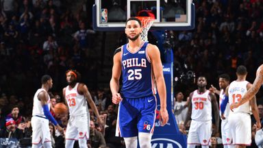 Simmons plays down first career three
