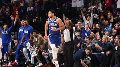 Simmons' sporadic three-point successes