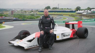 Brundle drives the McLaren MP4/4