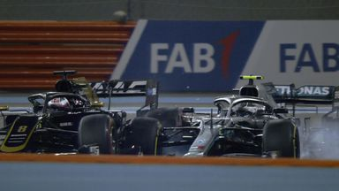 Bottas-Grosjean collide... in practice!