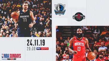 Watch Mavs @ Rockets free on Sky Sports
