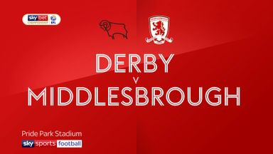 Derby 2-0 Middlesbrough