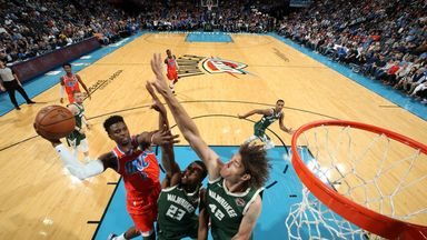 NBA Wk3: Bucks 121-119 Thunder
