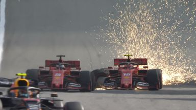 Leclerc and Vettel take each other out!