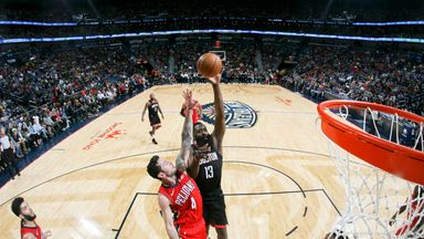 Harden drops 39 points on Pelicans