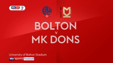 Bolton 1-0 MK Dons