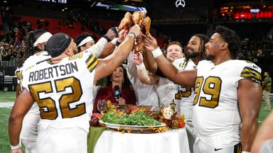 Saints' Thanksgiving turkey toast!