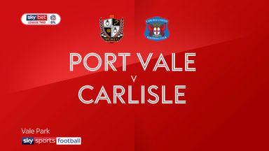 Port Vale 2-1 Carlisle