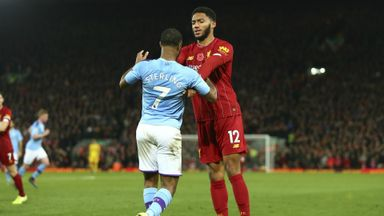 Gomez and Sterling bust-up