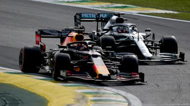 Lewis and Max battle for the lead