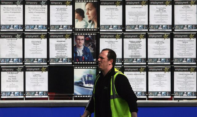 Employment figures: Biggest jobs slump in four years as vacancies fall