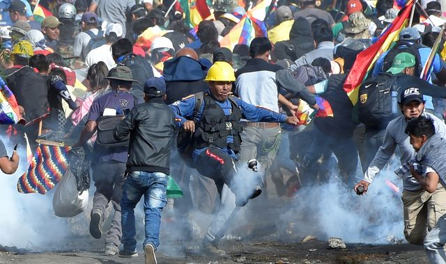 Eight dead in Bolivia protests calling for return of ex-president