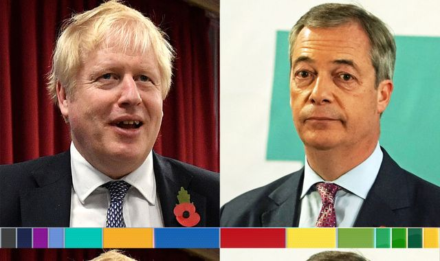 General election: Boris Johnson welcomes Nigel Farage's decision not to stand in seats won by Tories in 2017