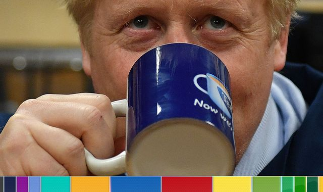 General election - day two: Johnson visits tea factory as trouble brews for his campaign