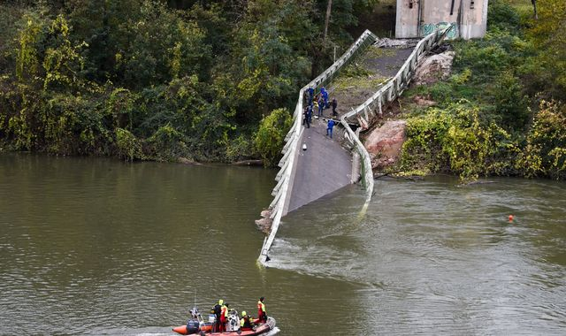 Girl, 15, dies after bridge collapses into river in France