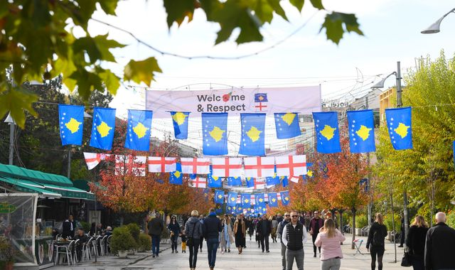 'Welcome bro': England's reception in Kosovo very different to recent games marred by racist abuse