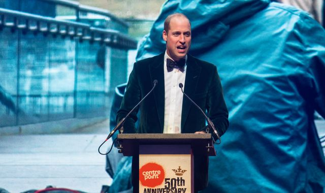 Prince William marks 50th anniversary of Centrepoint homeless charity