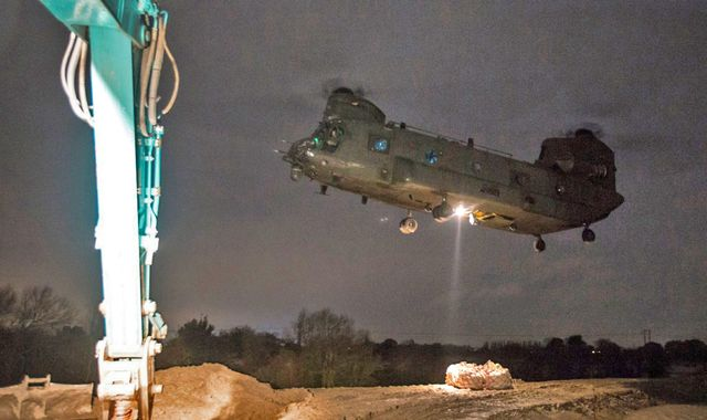 UK weather: RAF helicopter and army engineers sent to help severely flooded regions