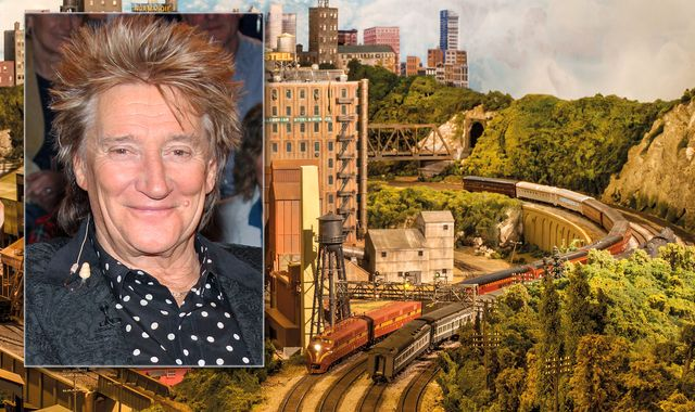 Sir Rod Stewart unveils model railway he worked on for 25 years
