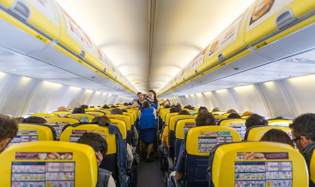 Ryanair named the filthiest flight operator  in Which? Travel survey