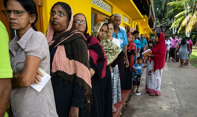 Sri Lanka election: Muslim voters attacked as polls open in shadow of Easter bombings