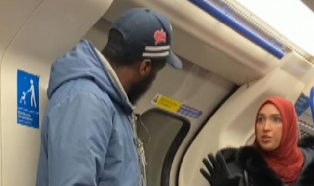 Muslim woman confronts man over antisemitic rant at Jewish father and son on Tube