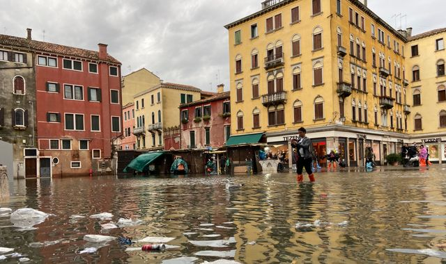 Venice floods: Lagoon city hit by high tide again as 70% of historic centre under water