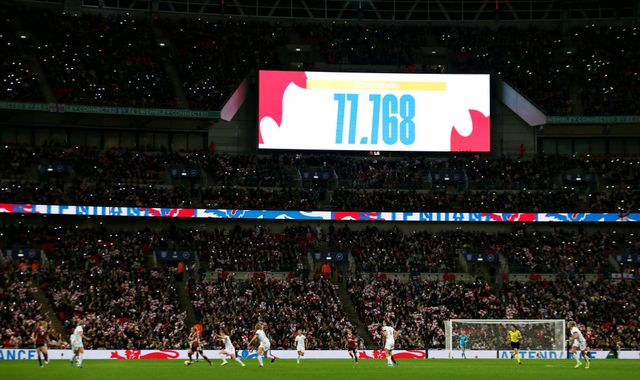 Record attendance as England's Lionesses lose to Germany at Wembley