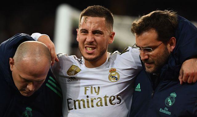 Eden Hazard: Real Madrid forward set to miss first leg vs Man City in Champions League last 16