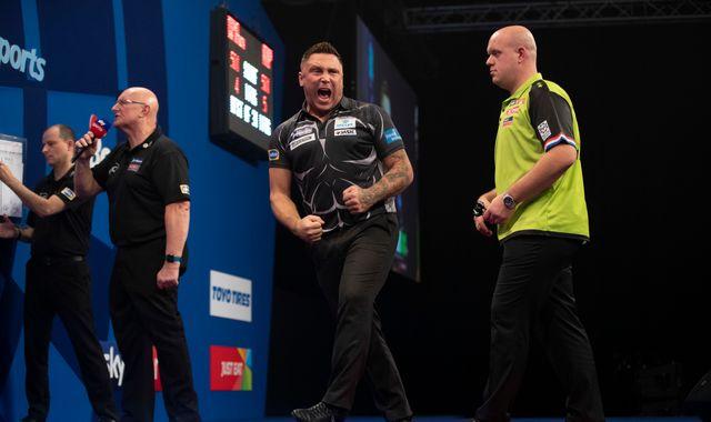 Grand Slam of Darts: Gerwyn Price beats Michael van Gerwen in semi-finals