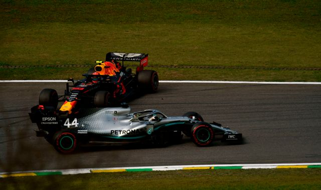 Lewis Hamilton loses Brazilian GP podium for Alex Albon crash