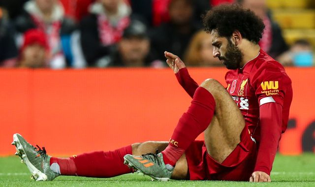 Mohamed Salah: Liverpool forward's return date unclear after ankle injury