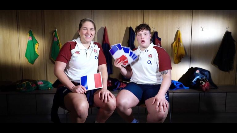England Women try to get to grips with the language ahead of Saturday's clash with France, live on Sky Sports Arena