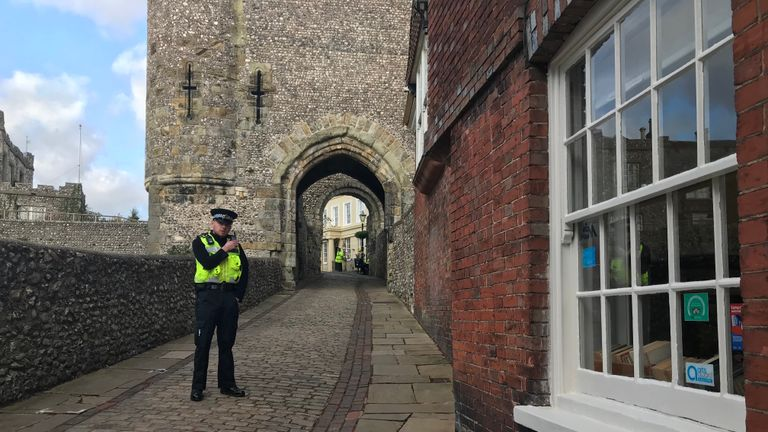 Firefighters and a hazardous area response team are at the scene of a reported wall collapse at an 11th century castle. Ambulances and police are also currently at the scene in Lewes, East Sussex.
