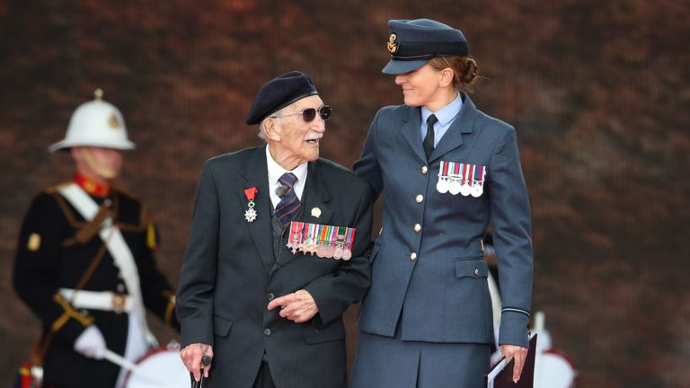 File photo dated 05/06/19 of D-Day veteran John Jenkins, who took part in a secret reconnaissance mission to check out the Normandy beaches for the Allied forces is celebrating his 100th birthday.