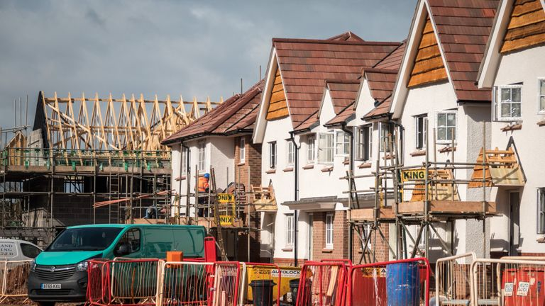BRISTOL, ENGLAND - OCTOBER 02: Recently built houses are pictured on a housing estate on October 2, 2018 in Bristol, England. Figures released today, show that activity in the UK construction industry has slowed to its weakest output in six months, as companies become less confident as Brexit neared, according to data firm IHS Markits construction Purchasing Managers Index (PMI). (Photo by Matt Cardy/Getty Images)