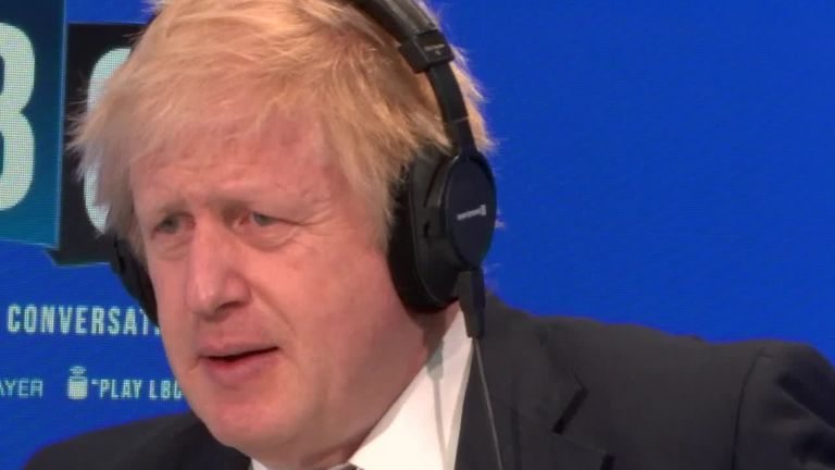 Single mothers comments 'out of context' says Boris Johnson on an LBC interview