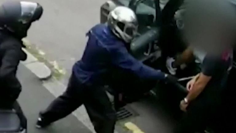 New CCTV of Arsenal players fighting against armed robbery