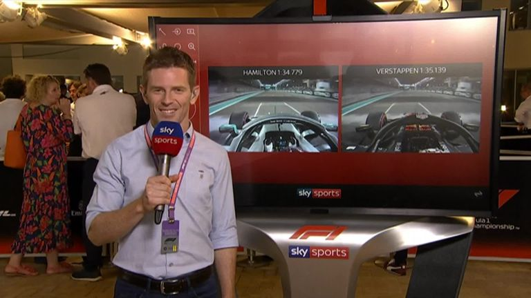 Anthony Davidson analyses the key battles between Lewis Hamilton and Max Verstappen during qualifying for the Abu Dhabi GP