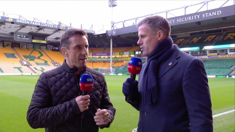 Gary Neville and Jamie Carragher look ahead to the massive Super Sunday clash between Liverpool and Manchester City