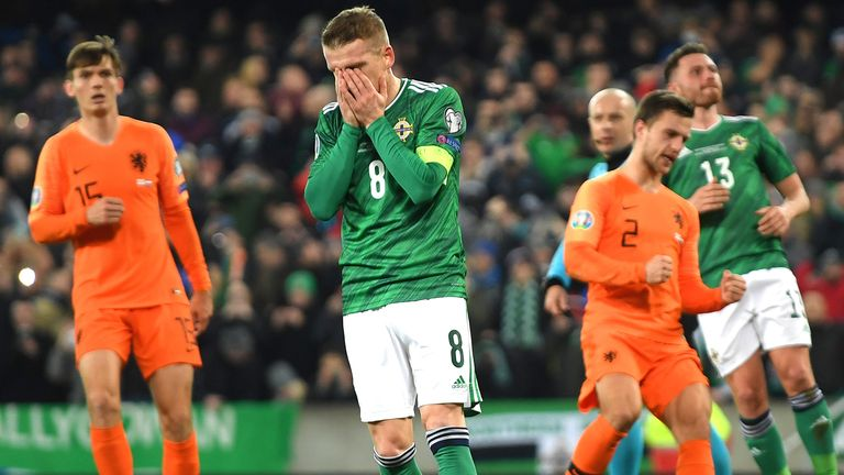 Northern Ireland missed out on automatic qualification for Euro 2020 after Steven Davis' penalty miss meant they had to settle for a draw against the Netherlands