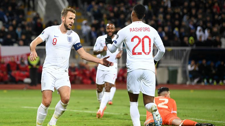Highlights of England's 4-0 win over Kosovo in their final Euro 2020 qualifying match