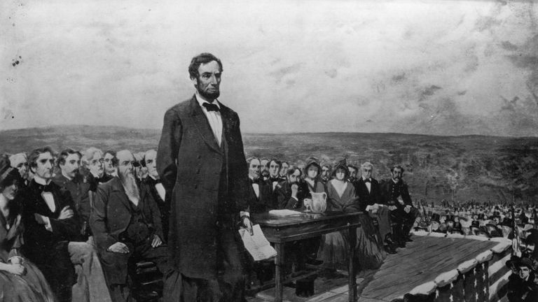 Abraham Lincoln's Gettysburg address was delivered during one of America's darkest hours