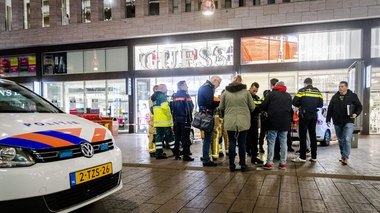 Aftermath of stabbing in The Hague