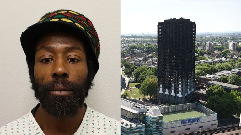 Alvin Thompson claimed he was sleeping in a stairwell on the night of the fire