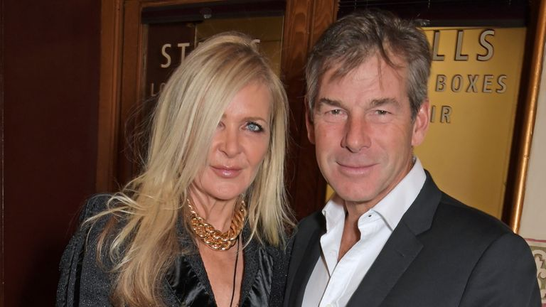 Fashion designer Amanda Wakeley and her partner Hugh Morrison