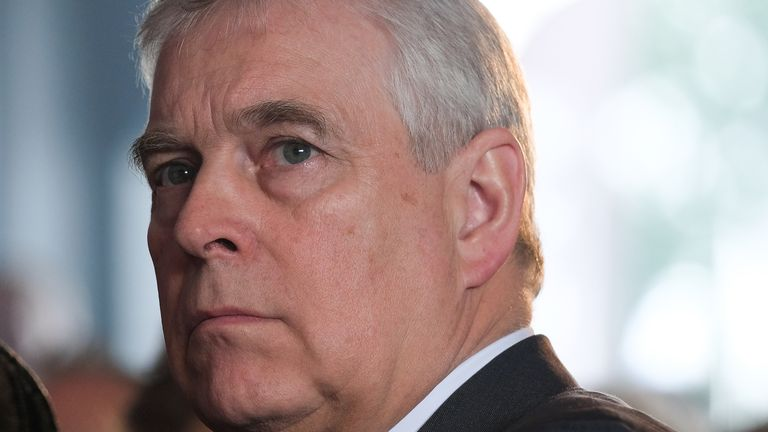 HARROGATE, ENGLAND - JULY 11: Prince Andrew, Duke of York visits the showground on the final day of the 161st Great Yorkshire Show on July 11, 2019 in Harrogate, England. Organiser's of the show this year have revealed that overall entries for the three-day show are higher than in any previous years. The Great Yorkshire Show is England's premier agricultural event and is organised by the Yorkshire Agricultural Society. The YAS support and promotes the farming industry through health care, busine
