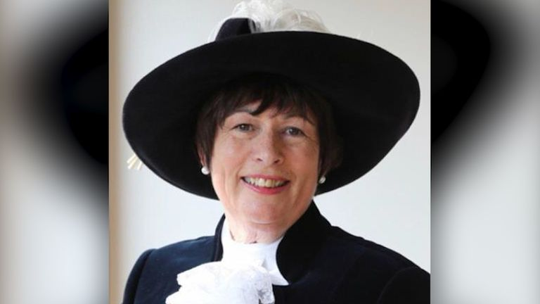 Former high sheriff of Derbyshire Annie Hall
