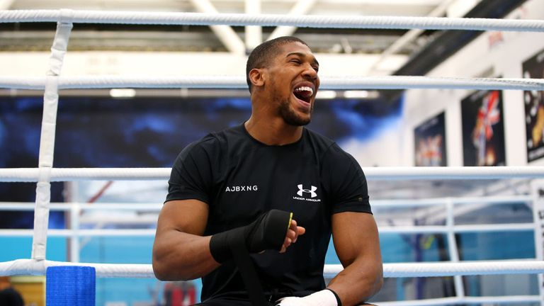 Joshua is preparing for his re-match with Andy Ruiz Jr in December